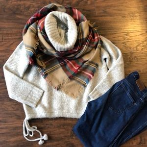 Madewell turtleneck sweater with tie